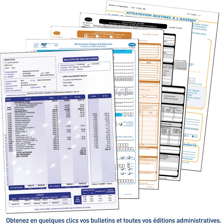 Liasse fiscale :bulletin paie excel 2011