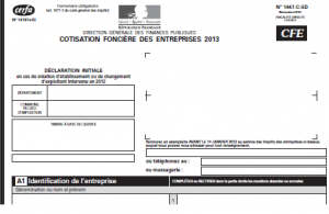 cfe 2013 300x195 LIASSE FISCALE : CREATION OU REPRISE CFE 2013 [pdf] DISPONIBLE