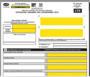 Liasse fiscale 2013 : Cotisation Foncière des Entreprises CFE  CVAE